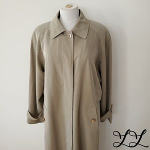 Vintage Talbots Trench Beige Long Storm Flap 90s